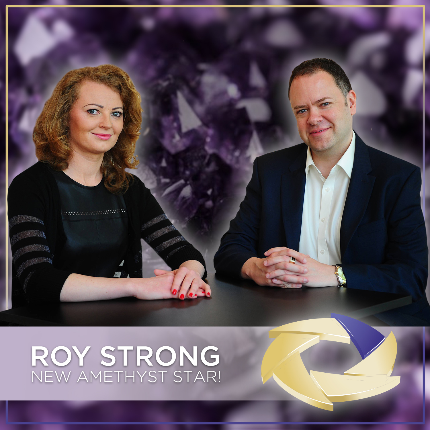 FIRST UK AMETHYST STAR - ROY STRONG!