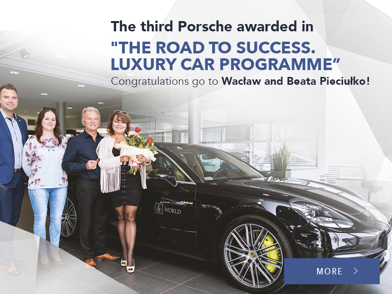 "The third Porsche awarded in ""The Road to Success. Luxury Car Programme"""