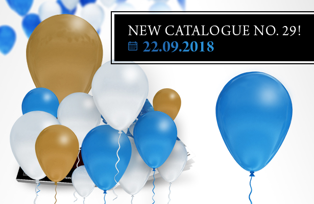 IN JUST ONE WEEK'S TIME, THE PREMIERE OF THE CATALOGUE NO. 29!