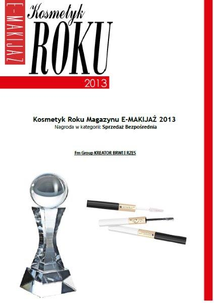 "Cosmetic product of the year 2013, award of ""E-makeup"" magazine"